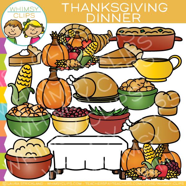 Thanksgiving Dinner Clip Art.