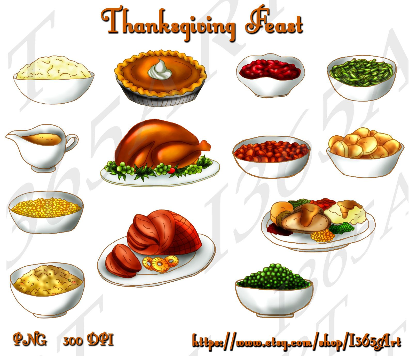 Thanksgiving Turkey Dinner Clip Art Free.