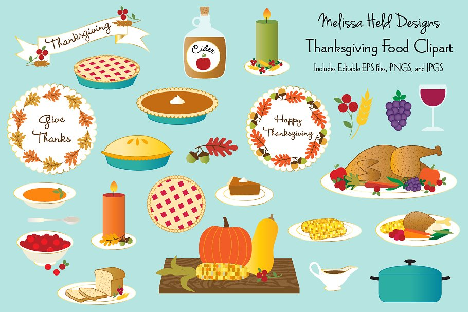 Thanksgiving Food Clipart Free Download Clip Art.