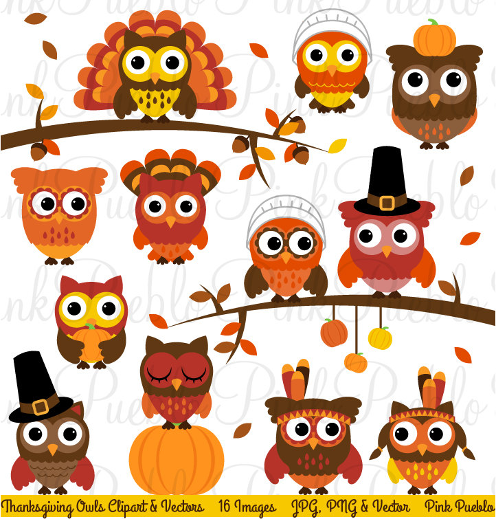 Thanksgiving Owl Clipart Clip Art Happy Thanksgiving Owl.