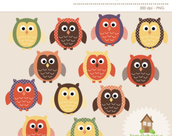 Brown owl clipart.