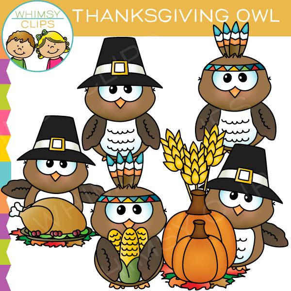 Thanksgiving Owl Clip Art , Images & Illustrations.