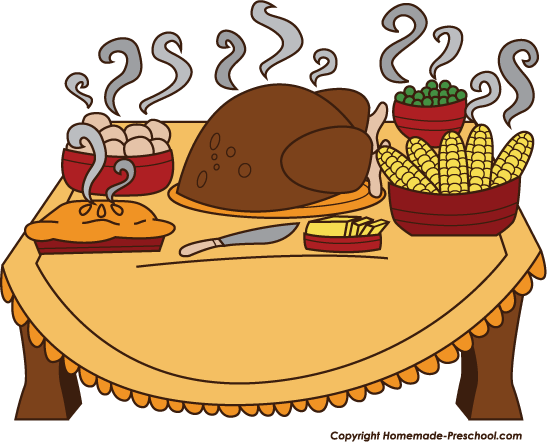 Free Clipart For Thanksgiving Dinner.
