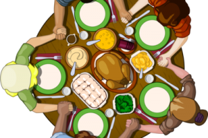 Thanksgiving table clipart 2 » Clipart Station.