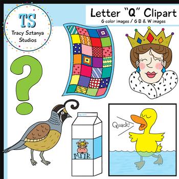 """Letter """"Q"""" Clipart Set {Tracy Sztanya Studios}."""