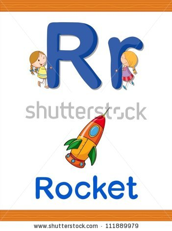 R Is For Rocket Stock Images, Royalty.