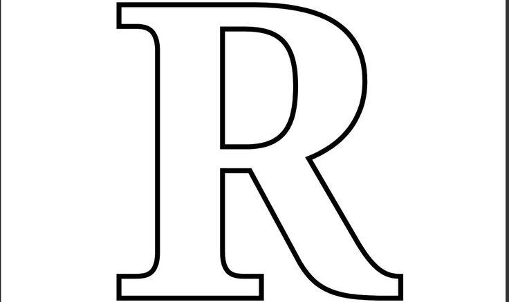 Bubble Letter R.