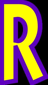 Letter R Clip Art at Clker.com.