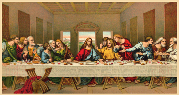 Last Supper Cliparts.