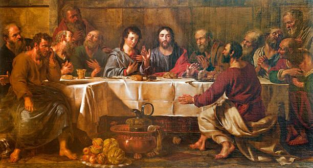 Best Last Supper Illustrations, Royalty.
