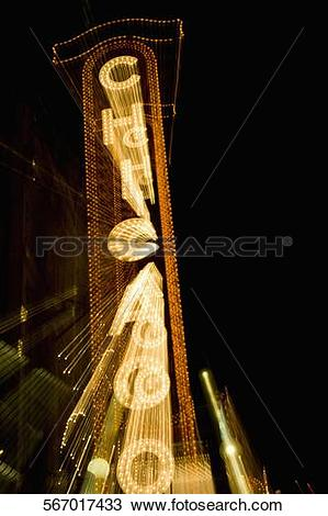 Stock Photo of Low angle view of an information board, Chicago.