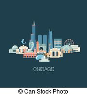 Chicago theater sign Vector Clipart Royalty Free. 6 Chicago.