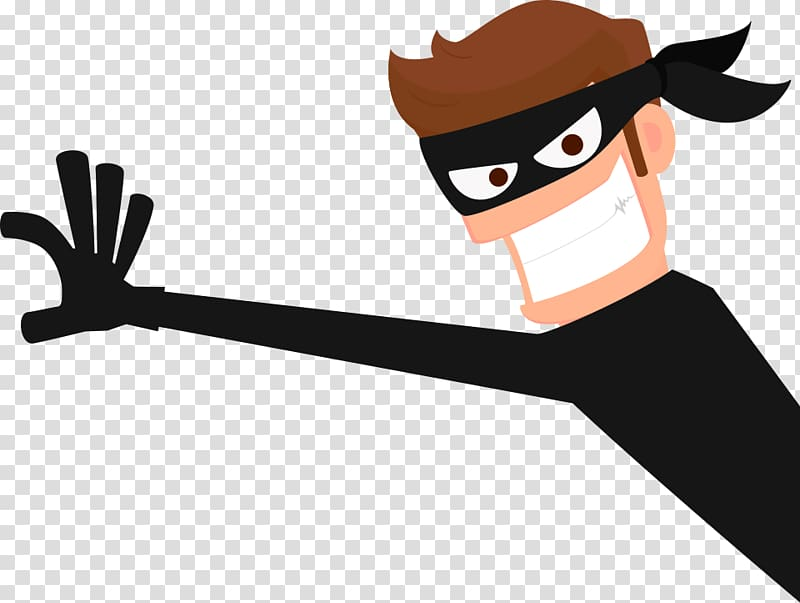 Thief, robber transparent background PNG clipart.