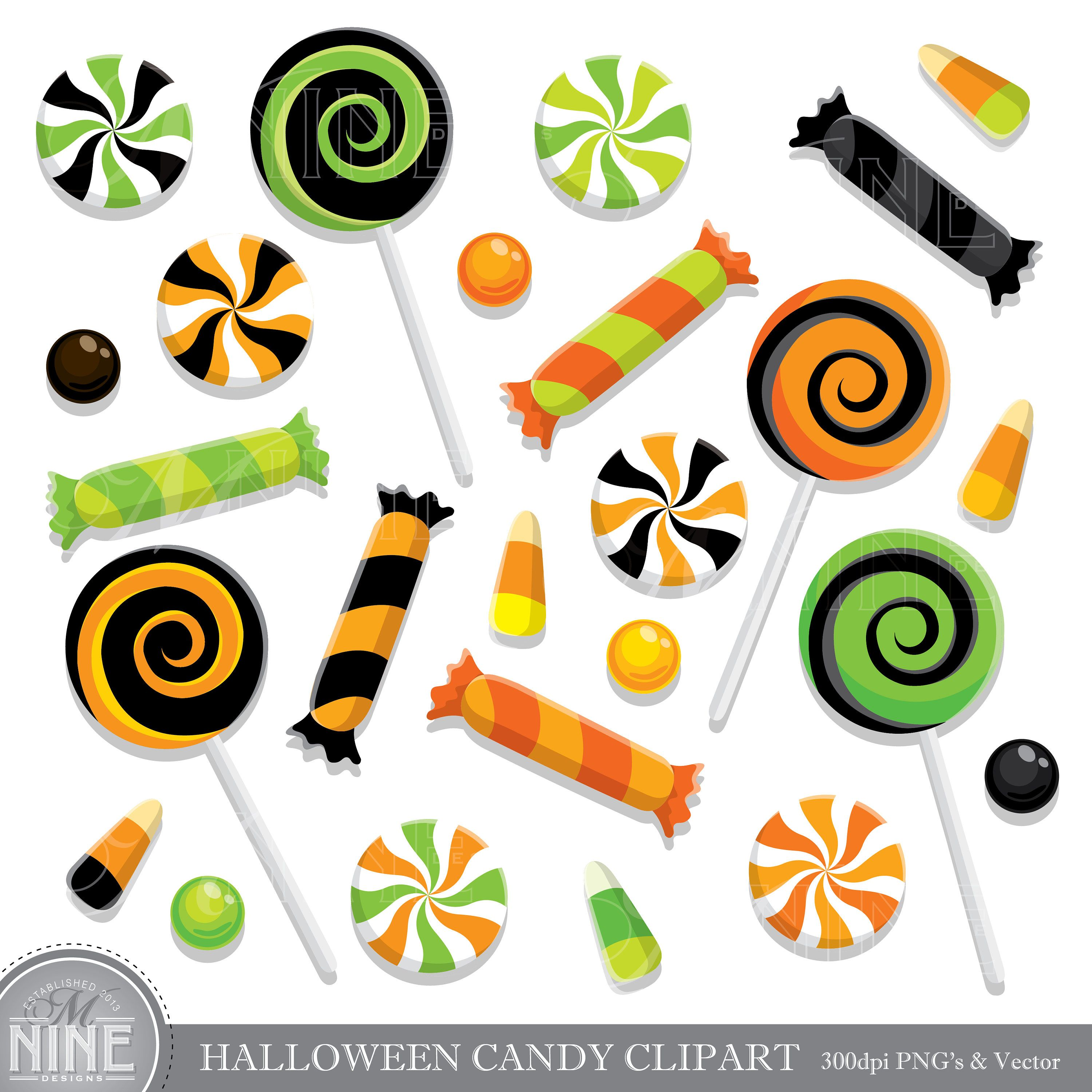 HALLOWEEN CANDY Clip Art / Halloween CANDY Clipart Downloads / Candy.