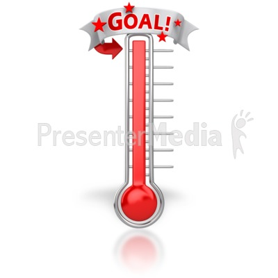 Thermometer Reached Our Goal.