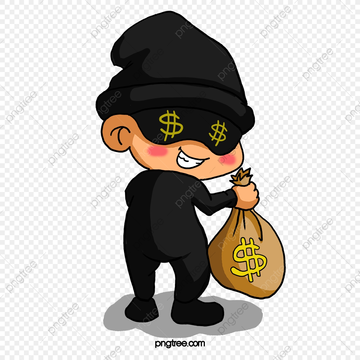 Thief, Bad Person, Steal Money, Police And Thieves PNG Transparent.
