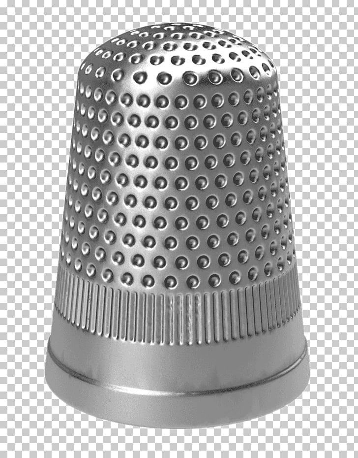 Grey Metallic Thimble, gray thimble PNG clipart.