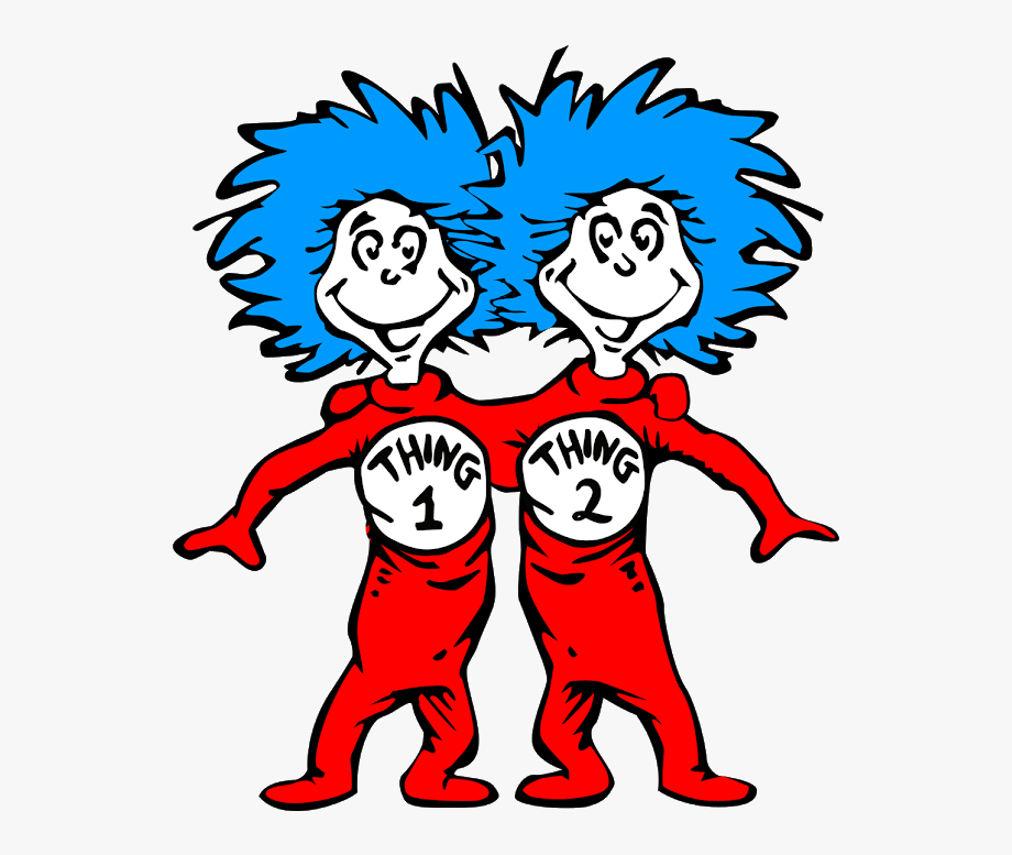 Dr Seuss Clipart Thing 1.
