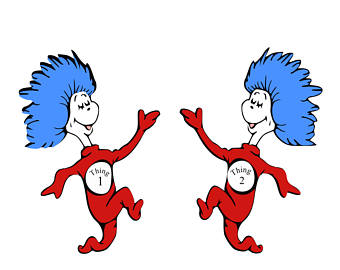 Images Of Thing 1 And Thing 2.