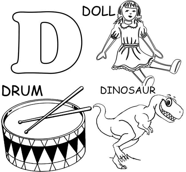 Coloring Pages Of Things That Start With The Letter A.