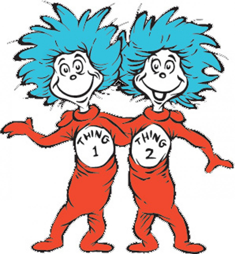 Dr Seuss Coloring Pages Thing 1 And Thing 2.