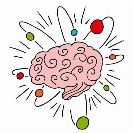 Thinking brain clipart Stock Photos.
