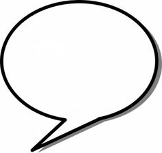 Thought bubble blank speech bubble clipart kid 2.