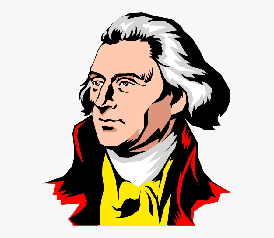 Vector Illustration Of Founding Father Thomas Jefferson.