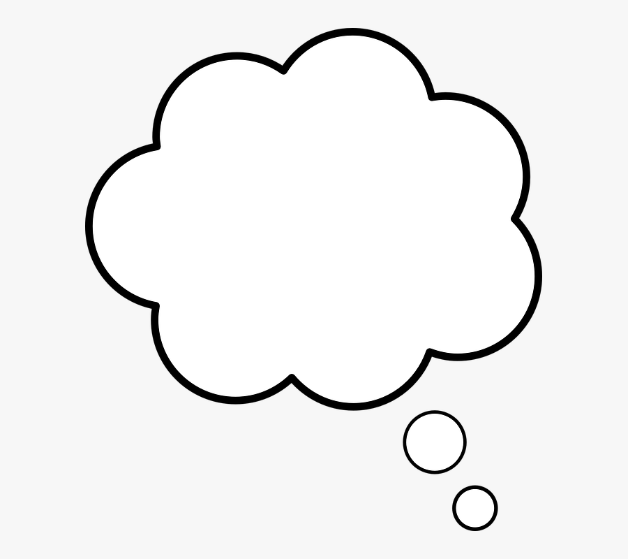 White Thought Bubble Transparent , Free Transparent Clipart.