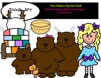 The Three Bears Clip Art Pack.