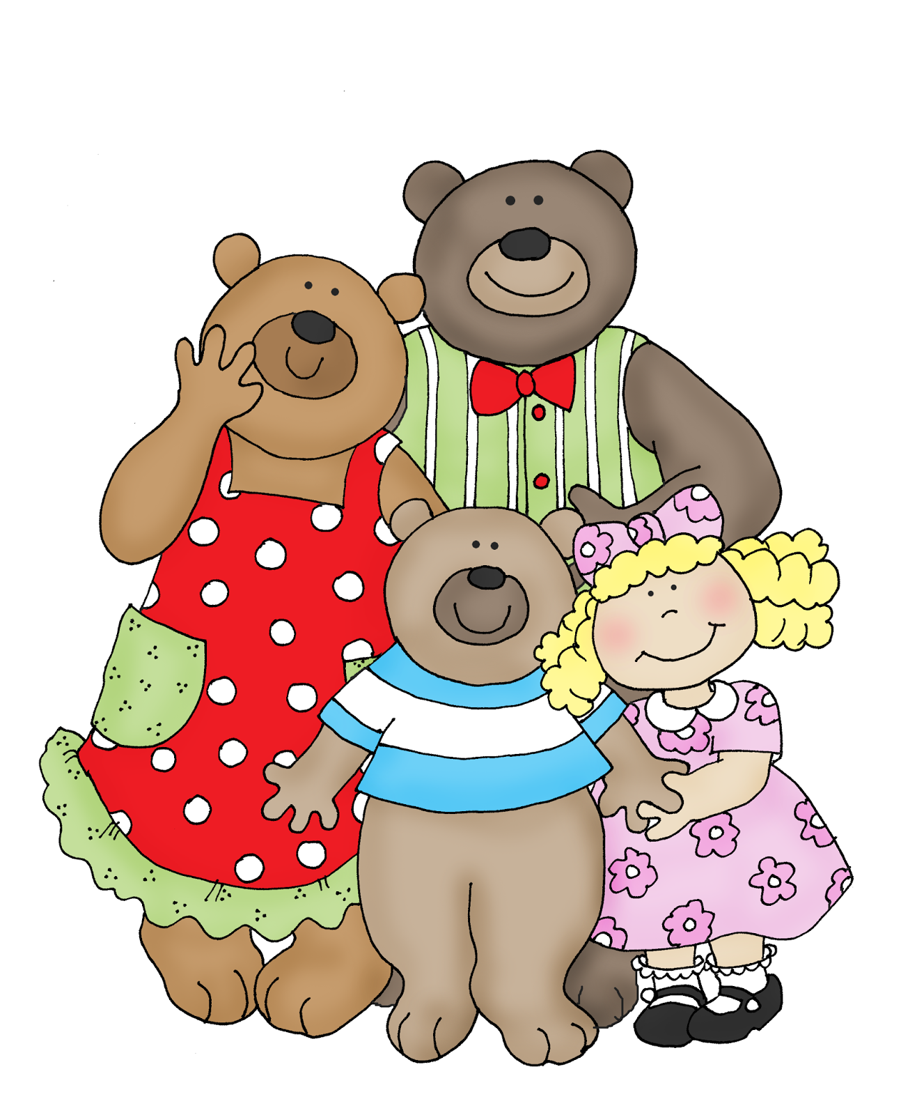 Goldilocks And The Three Bears Clipart & Free Clip Art Images #33372.