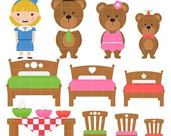 Goldilocks And The 3 Bears Clipart.