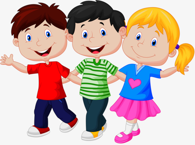 Three kids clipart 7 » Clipart Station.