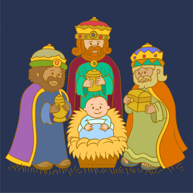 Three kings group Vector.
