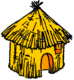 3 Little Pigs Straw House Clipart.