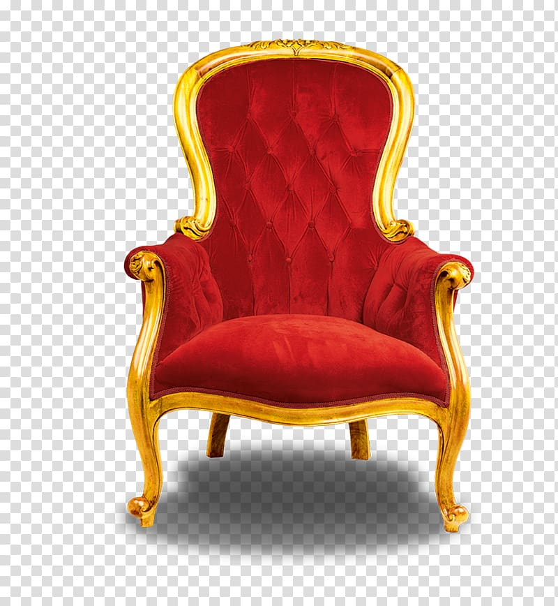 Red fabric padded French chair, Chair Throne, throne.
