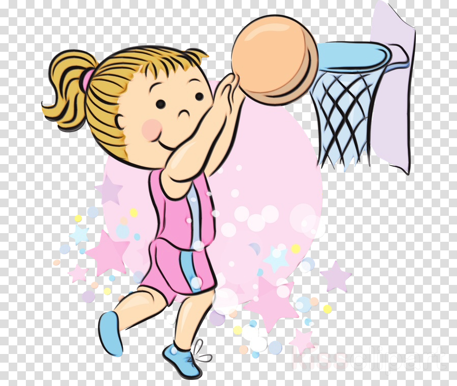 cartoon clip art throwing a ball playing sports child.