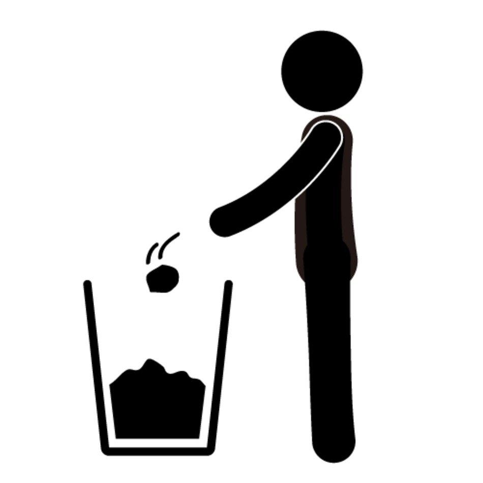 Throw Away Trash Clip Art N2 free image.