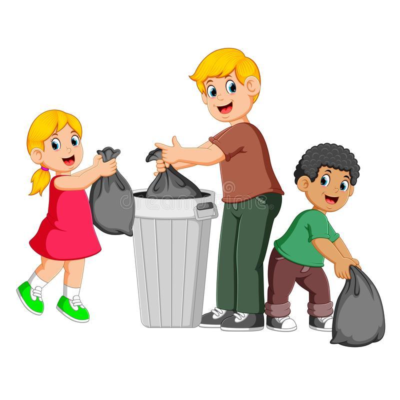 Throw Garbage Stock Illustrations.