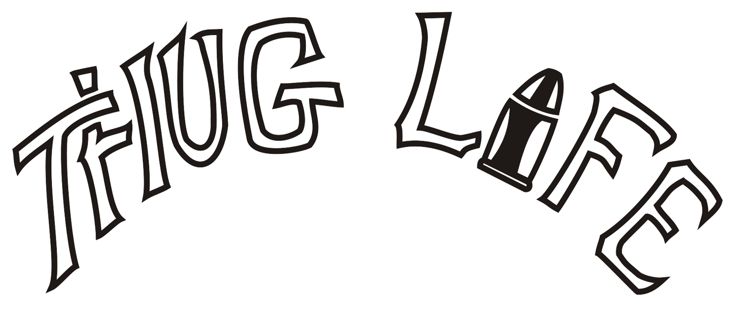 Thug Life Text PNG Clipart.