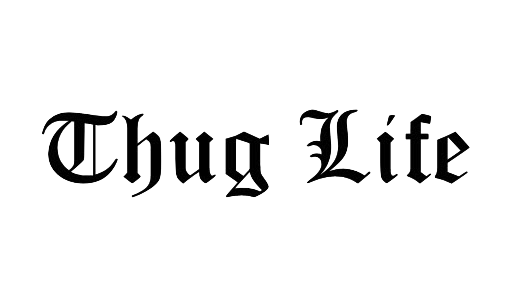 Thug Life PNG Transparent Images Glasses, Joint, Text, Chain, Hat.