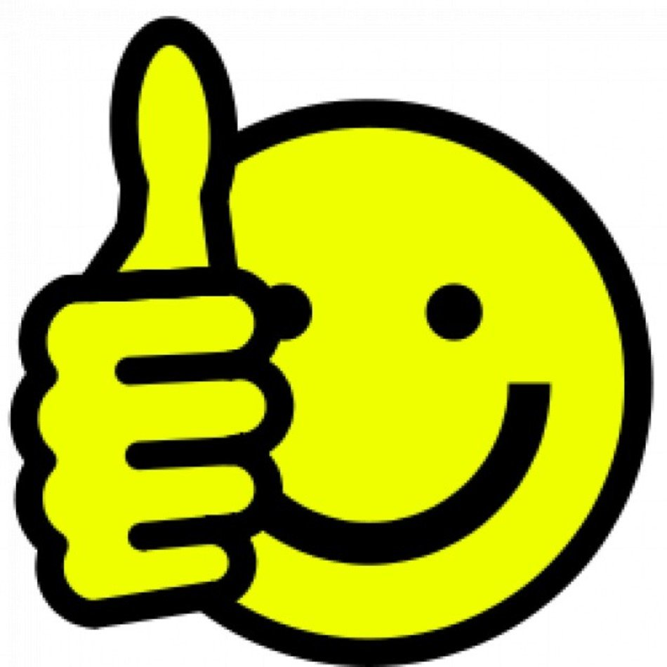 Thumbs Up Smiley Face Clip Art N21 free image.