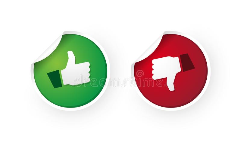 Thumbs Up Thumbs Down Stock Illustrations.