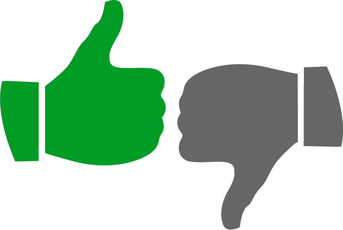 Download Free png Thumbs Up Thumbs Down Clipart.