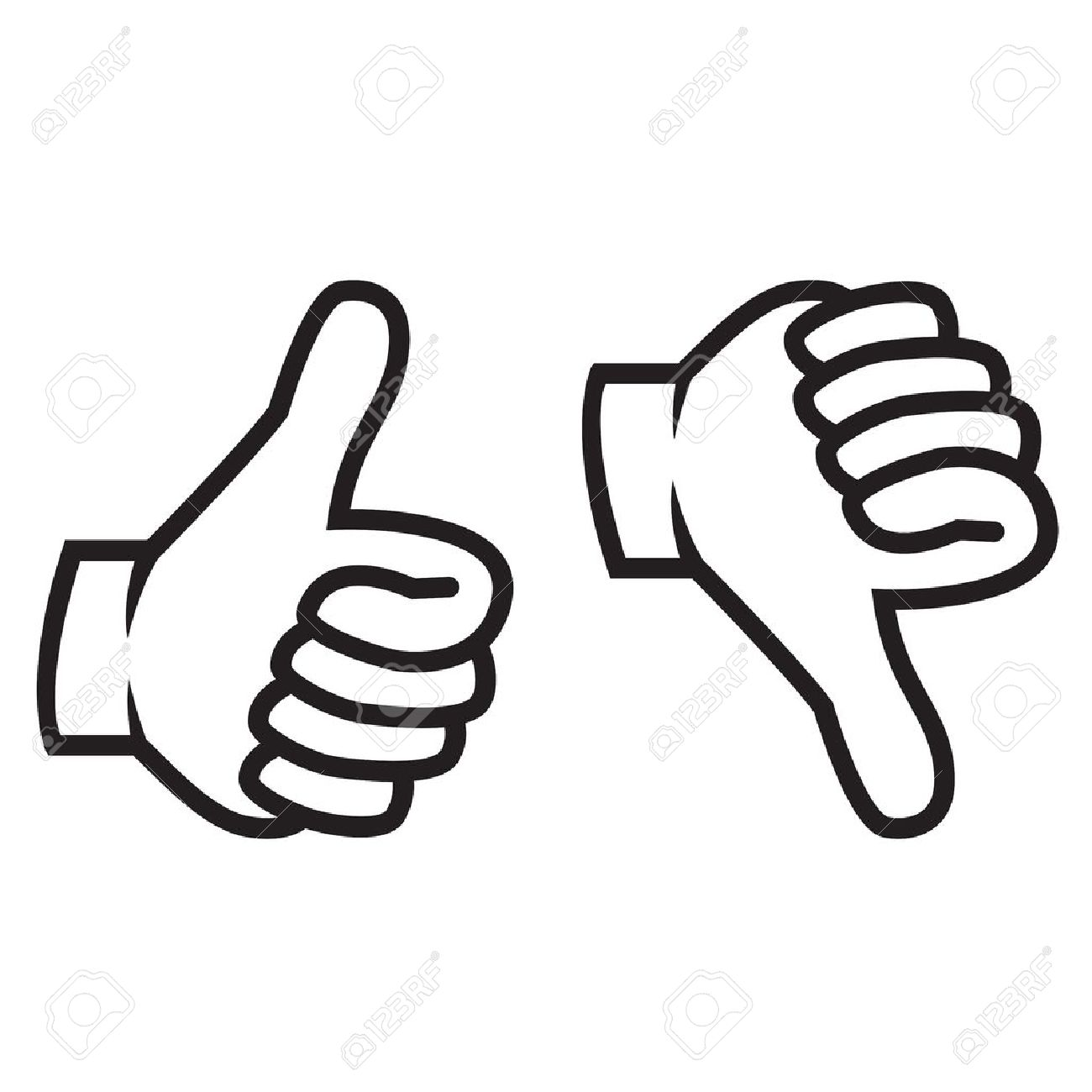 Thumbs up and thumbs down clipart 2 » Clipart Station.
