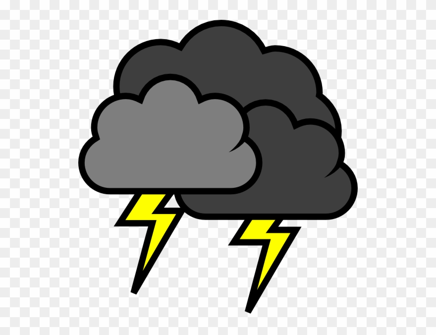 Jpg Black And White Download Lightening Clouds Clip.