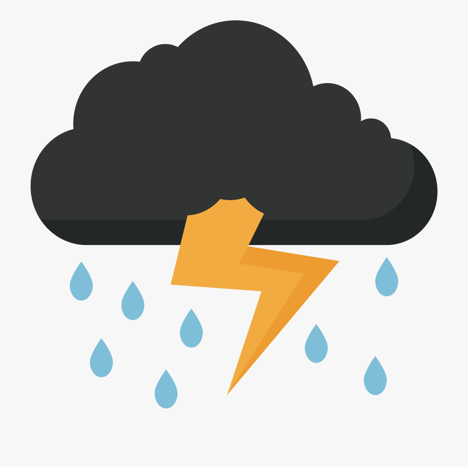 Thunder And Lightning Clipart , Transparent Cartoon, Free.