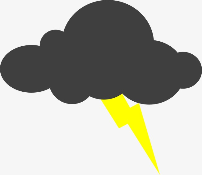 Thunder clouds clipart 1 » Clipart Station.