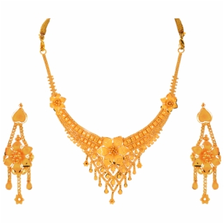 Gold Necklace PNG Images.
