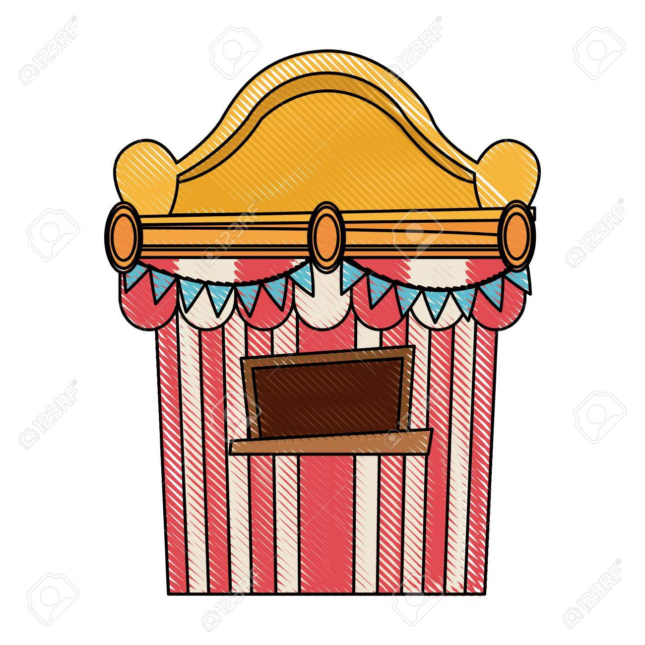 Ticket booth at the carnival entrance image » Clipart Portal.